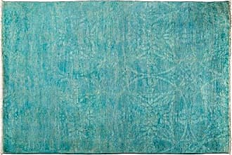 Solo Rugs Vibrance Hand Knotted Area Rug, 4 1 x 6 3, Blue