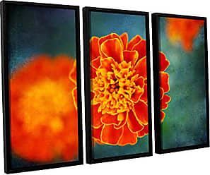 ArtWall 3 Piece Dragos Dumitrascus One in Orange Floater Framed Canvas Artwork, 36 x 54