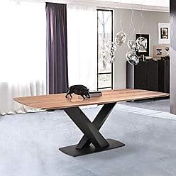 Armen Living LCERDIWABL Everett Dining Table, Matte Black