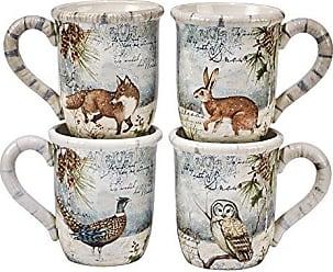 Certified International Winter Lodge 16.oz. Mugs, Set of 4,Assorted Designs
