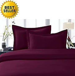 Elegant Comfort 2-Piece 1500 Thread Count Egyptian Quality Hypoallergenic Ultra Soft Wrinkle, Fade, Stain Resistant Pillowcases, Standard Size, Eggplant-Purple