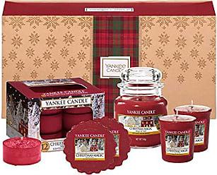 Yankee Candle Elevation Collection avec Couvercle de Plate-forme Petite Bougie Carr/ée /à 1 M/èche Holiday Pomegranate