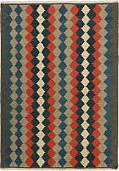 Nain Trading Oriental Kilim Fars Rug 69x49 Orange/Dark Blue (Wool, Iran/Persia, Handwoven)