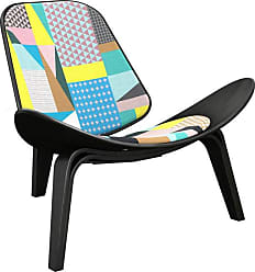 NyeKoncept Nyekoncept Shell Patchwork Accent Chair Blue / Yellow / Pink - 14000739
