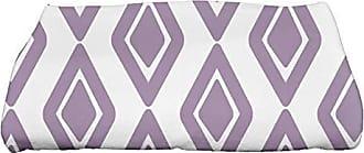 E by Design Ebydesign Diamond Jive 1 Geometric Print Bath Towel 28 x 58 Purple