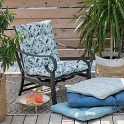 Belham Living New Harbor Outdoor Hinged Chair Cushion Indigo Stripe - NEW HARBOR36