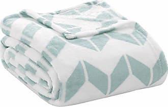 INTELLIGENT DESIGN Chevron Luxury Plush Blanket Aqua 68x92 Chevron Premium Soft Cozy Ultra Soft Microfiber For Bed, Couch or Sofa