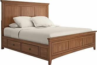 Weston Home Crestler Platform Storage Bed, Size: King,Queen - 68395BQ-1WH[BED]SR
