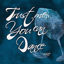 Portfolio Canvas Decor Canvas Print Wall Art - Trust Me, You Can Dance - Wine Blue - 24x24 by IHD Studio Stretched and Wrapped, Ready to Hang