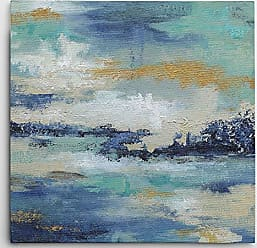 WEXFORD HOME Carol Robinson Sea Isle II Gallery Wrapped Canvas Wall Art, 32x32, Susan Jill Just Dance I