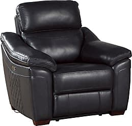 Homelegance 9805DG-1PW Renzo Power Reclining Chair, Dark Gray Leather