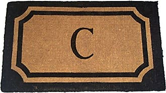 Geo Crafts Imperial Wilkinson Doormat, 24 by 39-Inch, Black, C Monogram