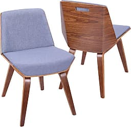 LumiSource Corazza Mid-Century Modern Dining Chair Blue - CH-CRZZ WL+BU