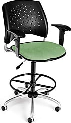OFM 326-AA3-DK-2207 Stars Swivel Stool with Arms