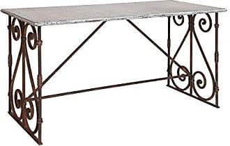 Creative Co-op Creative Co-op Rectangle Iron Decorative Legs Table, Grey