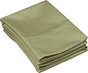 Superior C500SDPC SLSG, Cotton 500 Thread count Envelope closure pillowcases, Standard, Sage, 2 Piece
