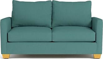 Apt2B Tuxedo Twin Size Sleeper Sofa - Leg Finish: Natural - Sleeper Option: Deluxe Innerspring Mattress - Teal Poly Blend - Sold by Apt2B - Modern Couc