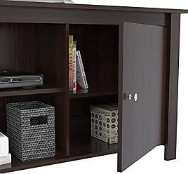Inval America Inval MTV-12119 Wood 60 TV Stand in Espresso-Wengue