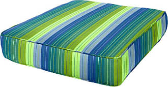 Cushion Source 24.5 x 23.5 in. Striped Sunbrella Deep Seating Chair Cushion Foster Surfside - JXYLY-56049