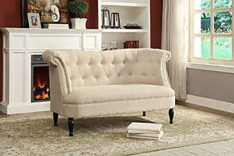 Wholesale Interiors Baxton Studio WS-SFA06-Beige Erica Victorian Seater Loveseat, Beige