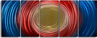 Omax Decor Tunnel for Gold 5-Piece Handmade Metal Wall Art -60W x 24H in. - MC6001