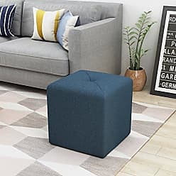 Noble House Christopher Knight Home 303844 Cayla Ottoman, Navy Blue