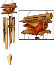 Woodstock Chimes Home Tweet Home Bamboo Wind Chime