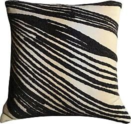 Kelly Wearstler White Black Grey Cotton Pillow, California