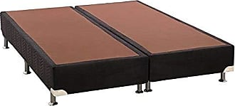 Ortobom Base Box Bipartido 30cmx158cmx198cm Camurça Queen Ortobom Preto