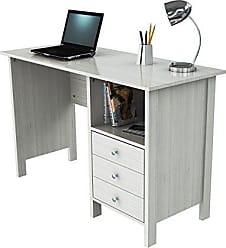 Inval America ES 3303 Laura Collection Computer Desk, Laricina White