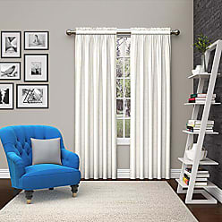 Ellery Homestyles Pairs to Go 15615056X084WHI Teller 56-Inch by 84-Inch Window Curtain Pair, White