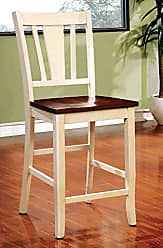 FURNITURE OF AMERICA CM3326WC-PC-2PK Dover II Counter Height Set of 2 Dining Chairs