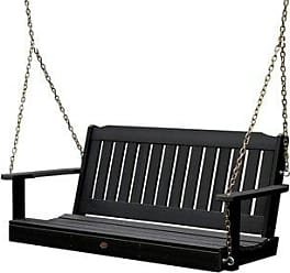 highwood Highwood Lehigh 5-foot Eco-friendly Synthetic Wood Porch Swing (Weathered Acorn)