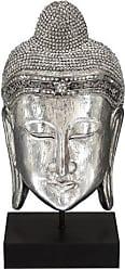 Deco 79 Polystone Buddha Head, 19 by 10-Inch