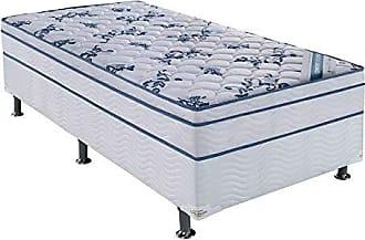 Ortobom Conjunto Cama Box Physical com Colchão Solteiro Molas Nanolastic Confort (20x88x188) Branco