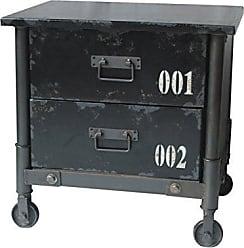 Moe's SoHo 2-Drawer Cabinet, Black