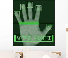 Wallmonkeys WM214618 Electronic Biometric Fingerprint Scanning Peel and Stick Wall Decals (24 in H x 22 in W), Medium