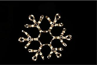 Queens of Christmas WL-SNFLAKE-18-WW Rope-Lit Snowflake Decor, 18, Warm White