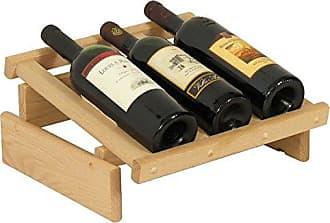Wooden Mallet 3 Bottle Dakota Wine Display Rack, Unfinished