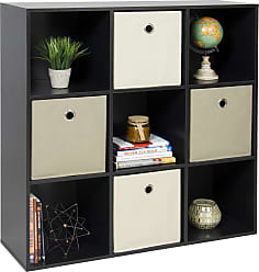 Best Choice Products 9-Cube Bookshelf Storage Display w/ Removable Panels - Black