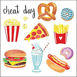 Marmont Hill Cheat Day by Molly Rosner Framed Painting Print 48x48 Multicolor