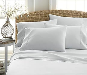 iEnjoy Home Becky Cameron Luxury Soft Deluxe Hotel Quality 6 Piece Bed Sheet Set, Full, Light Gray