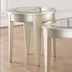 United Furniture 22 in. Round End Table - Platinum - 7520-47