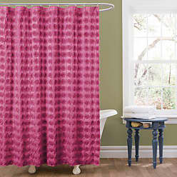 Lush Décor Emma Shower Curtain, 72 by 72-Inch, Pink