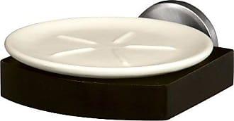 Bisk 00997 Side Portasapone in Vetro Satinato con ferramento in Nichel Spazzolato 18.5 x 9.2 x 5 cm
