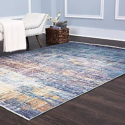 Home Dynamix Nicole Miller Artisan Maderas Area Rug 53x79, Border Blue/Purple/Yellow