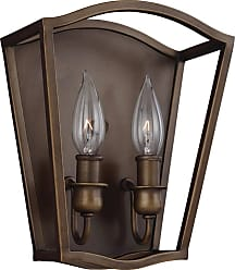 Feiss Yarmouth 2 - Light Sconce in Painted Aged Brass