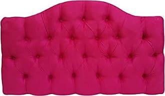 Kasabela Cabeceira Estofada Solteiro Curvinha Kasabela Rosa Pink