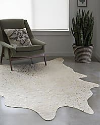 Loloi Rugs Loloi Faux Cowhide Rug Bryce Collection, 310 x 5, Ivory/Champagne