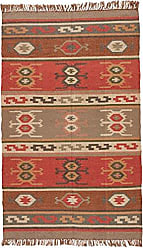 Jaipur Living Thebes Reversible Flatweave Tribal Red Area Rug (2 X 3)
